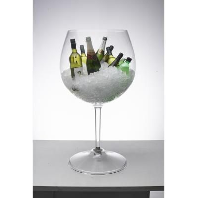Oversized Wine Glass Centerpiece Decorations Front Of