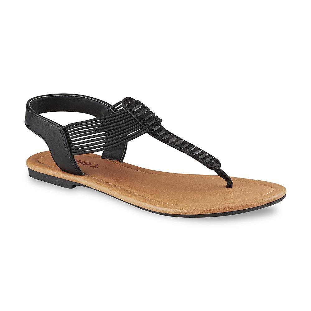 594f91234c7 Bongo Junior's Ellie Black Stretch Thong Sandal - Clothing, Shoes ...