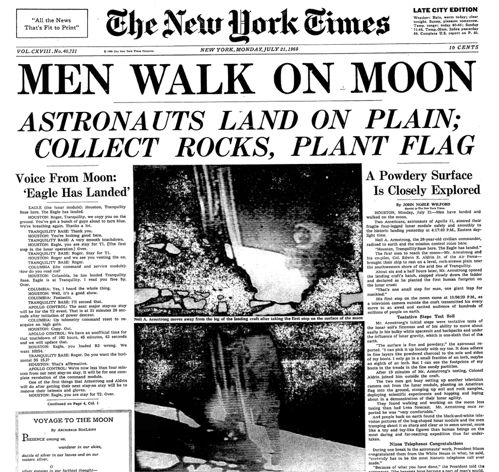 When Men First Walked On The Moon A Moment Relived