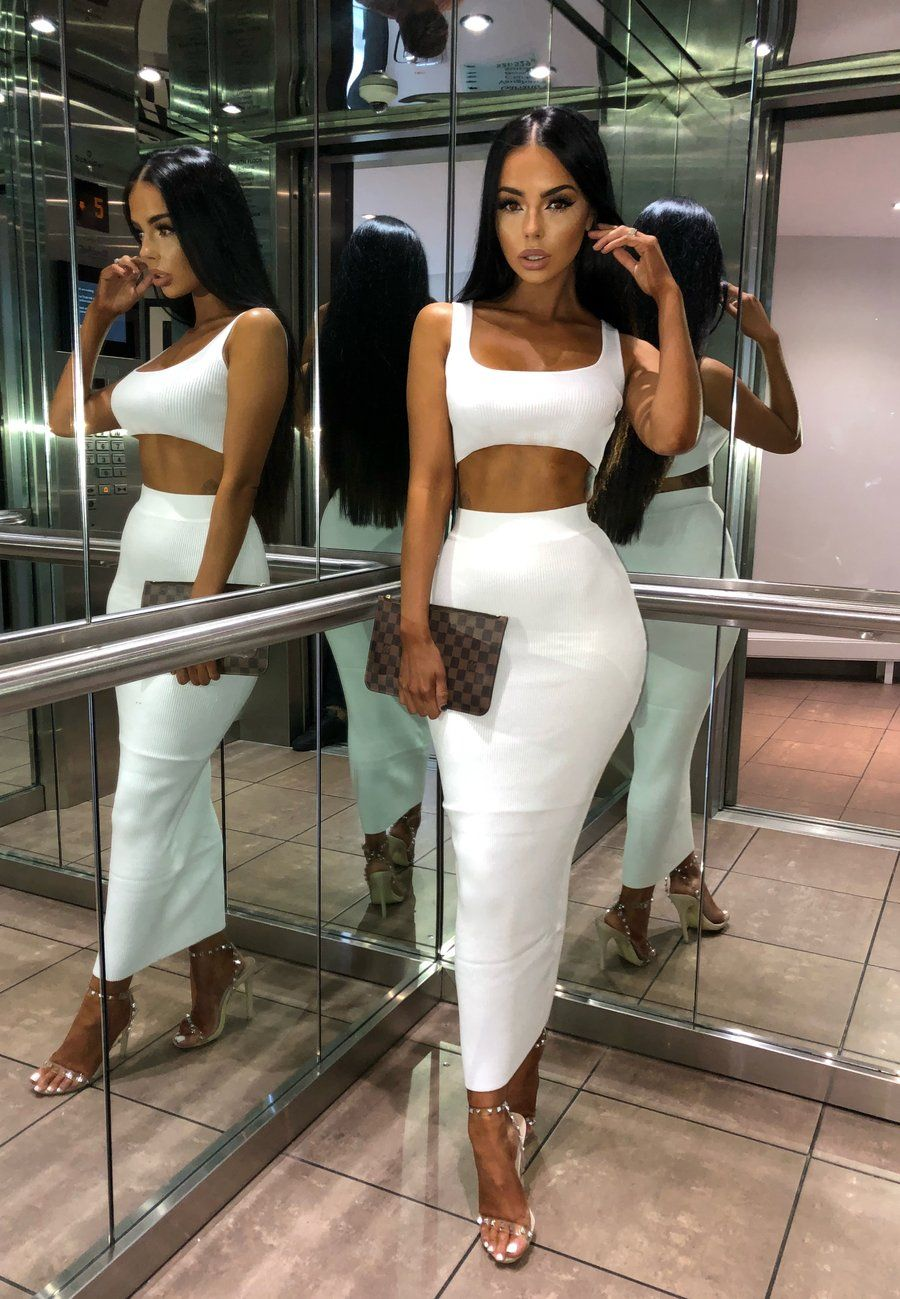 Kimberley Ribbed Two Piece White Pre Order Sorelleuk Summer Outfits Women 2 Piece Skirt Set Two Piece Dress [ 1299 x 900 Pixel ]