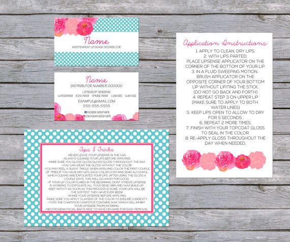 LipSense Business Card - SenegGence Business Card Bundle Pink/Blue - lipsense business card