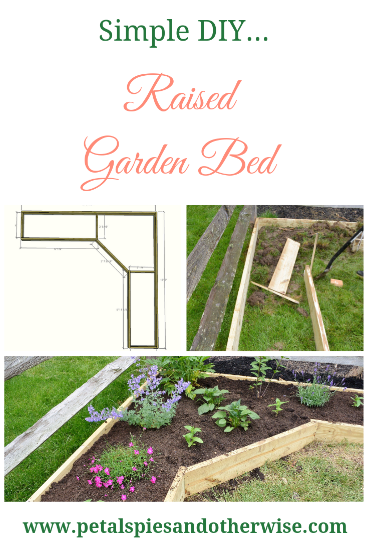Raised Garden Bed - Petals, Pies and Otherwise  DIY Raised Garden Bed - Petals, Pies and Otherwise