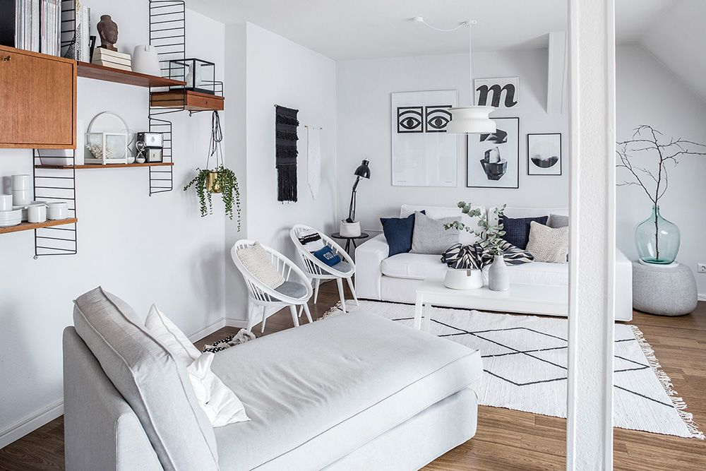 Wohnen in Schwarz-Weiß Karina Kaliwoda richtet Räume stilsicher - wohnen schwarz wei