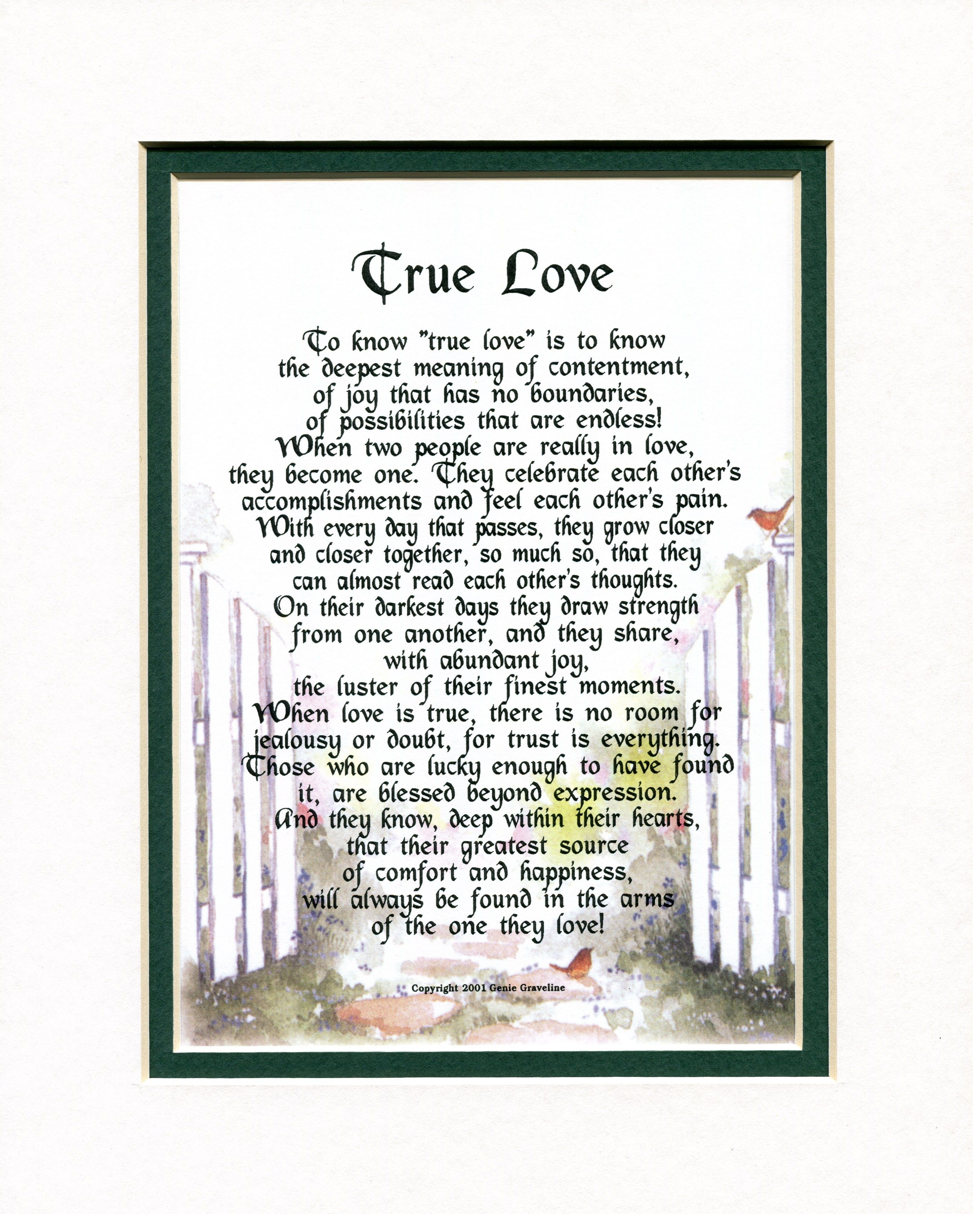 """True Love"" A Sentimental Gift for the one you love, A"