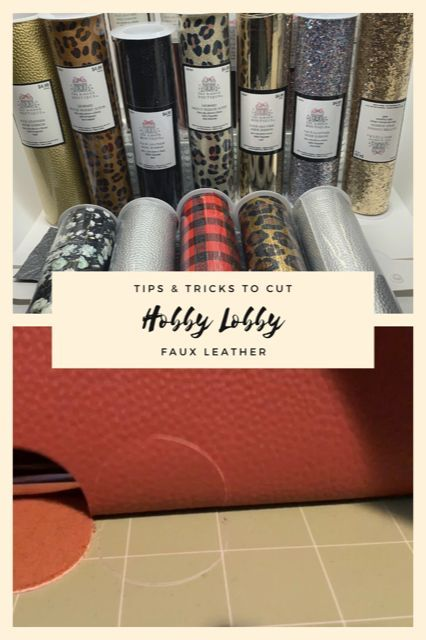 Photo of Having trouble with cutting Hobby Lobby Faux Leather? Check out my Cricut tips and tricks.