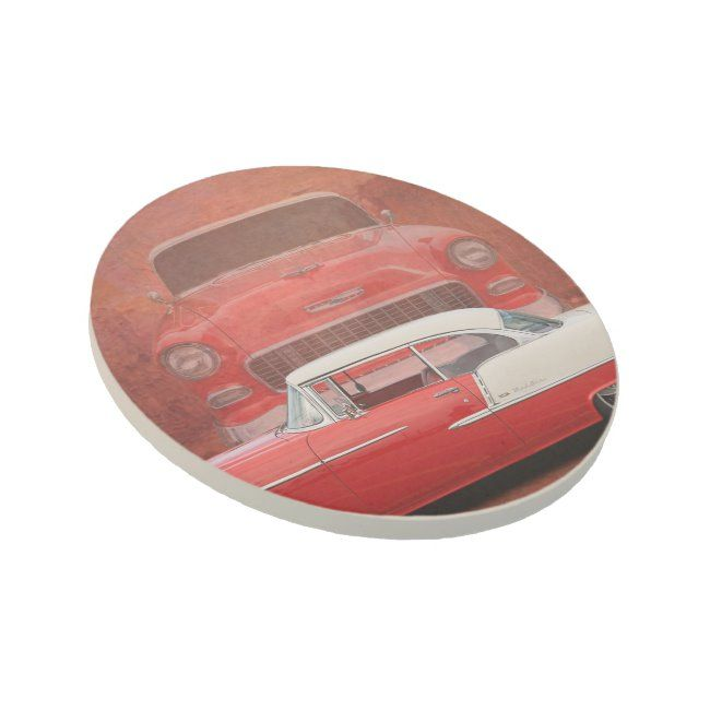 Classic Car Chevy Bel Air Red Vintage Oldtimer Coaster   Zazzle.com