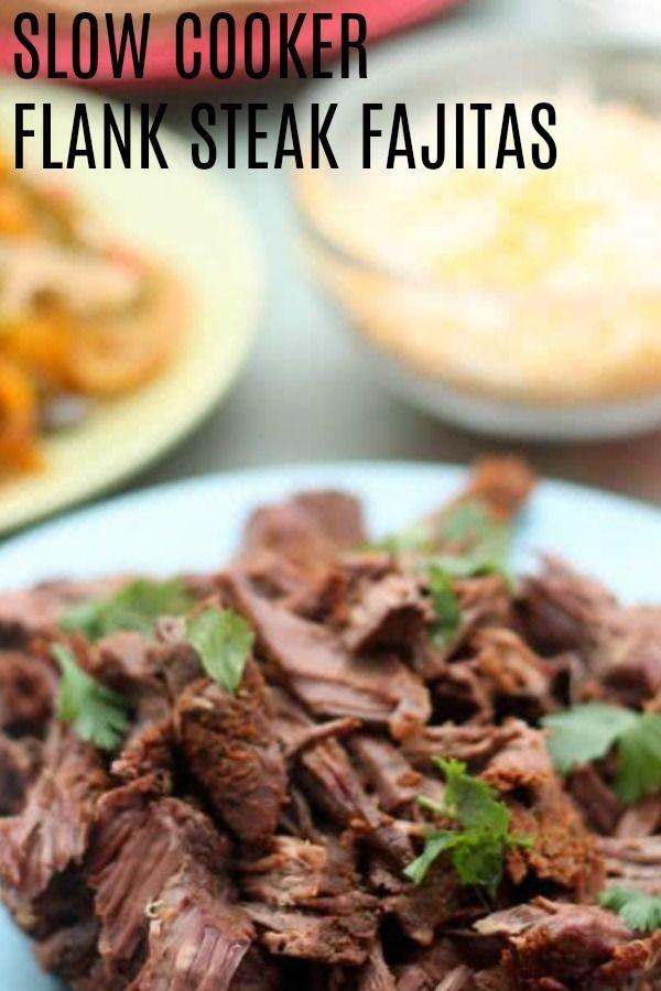 Slow Cooker Flank Steak Fajitas aus 100 Tagen echter Küche #steakfajitarecipe