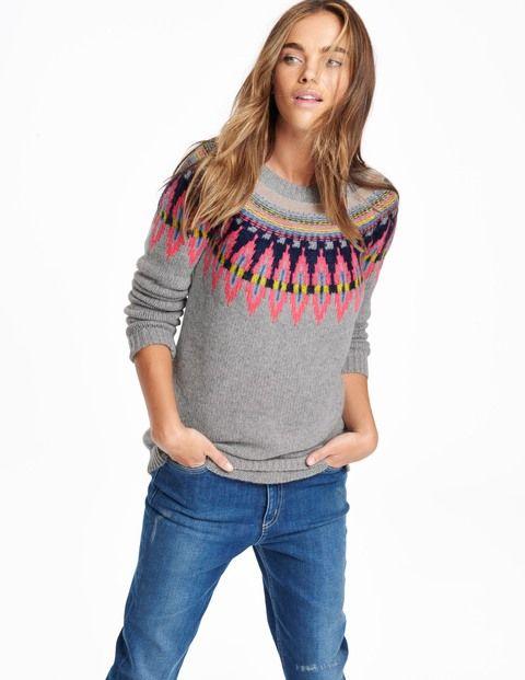 Fair isle sweater wv059 sweaters at boden trunk c l o s e t pinterest strickideen und stricken - Fair isle pullover damen ...
