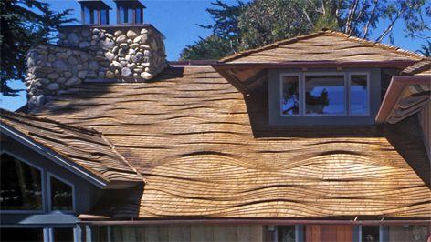 Best Ocean Wave Pattern Roofing Project Carmel Ca Cedar 400 x 300