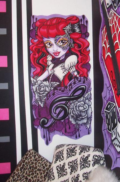 Monster High Wall Murals Doll Wallpaper Art Sricker Mural Handmade Room Decor