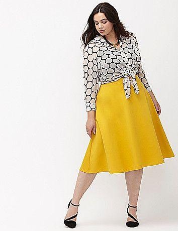 e7ad84907 Plus Size Ponte Circle Skirt | Plus Size Fashion | Fashion, Plus ...