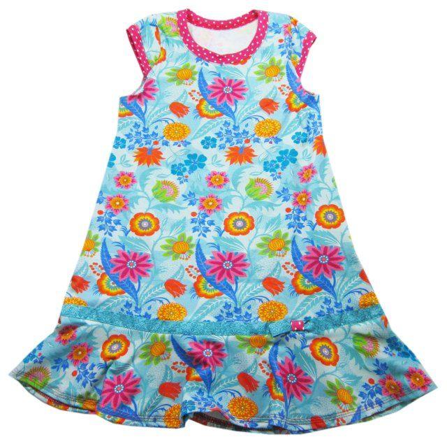 001512b4e85 Trägerkleid von Klimperklein ein Papierschnittmuster von farbenmix de mit  Anleitung - Jerseykleid nähen