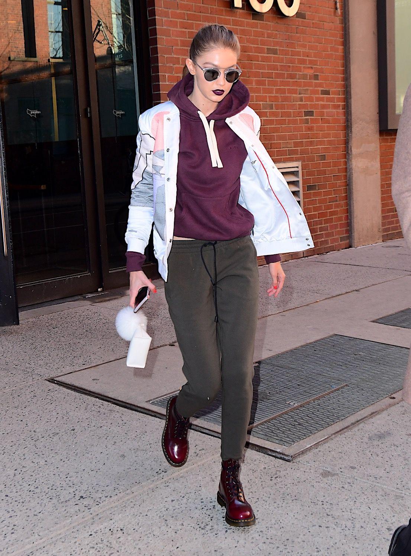 Gigi Hadid Bella Hadid Fashion Athleisure Street Style Gigi Hadid Style Street Style Boots