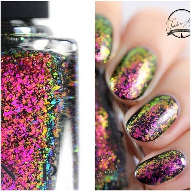 http://www.ilnp.com/electric-carnival.html Electric Carnival polish. Nature Nails by Tenshi no Hana