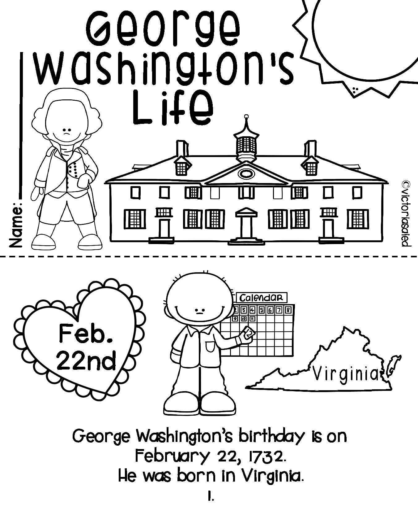 George Washington Amp Abe Lincoln Mini Books