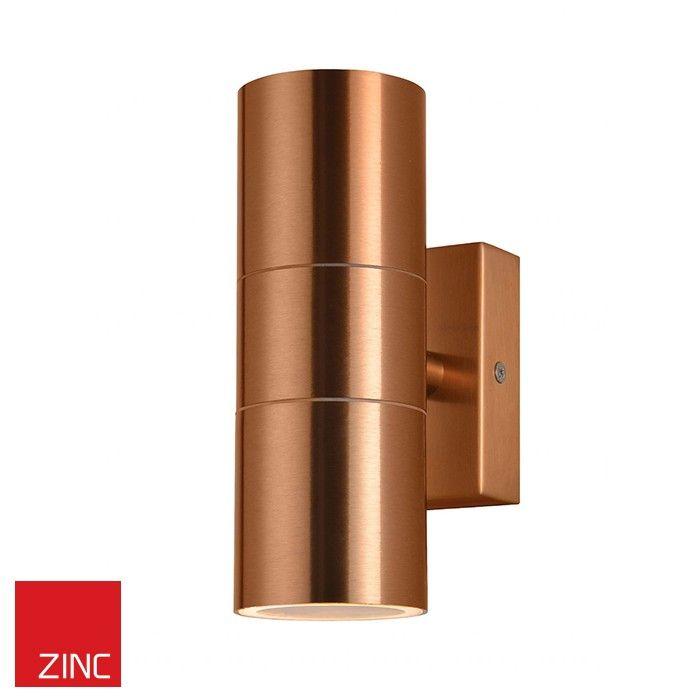 Zinc Outdoor 2 Light Wall Light Fixture Copper Wall Lights Copper Outdoor Lighting Up Down Wall Light
