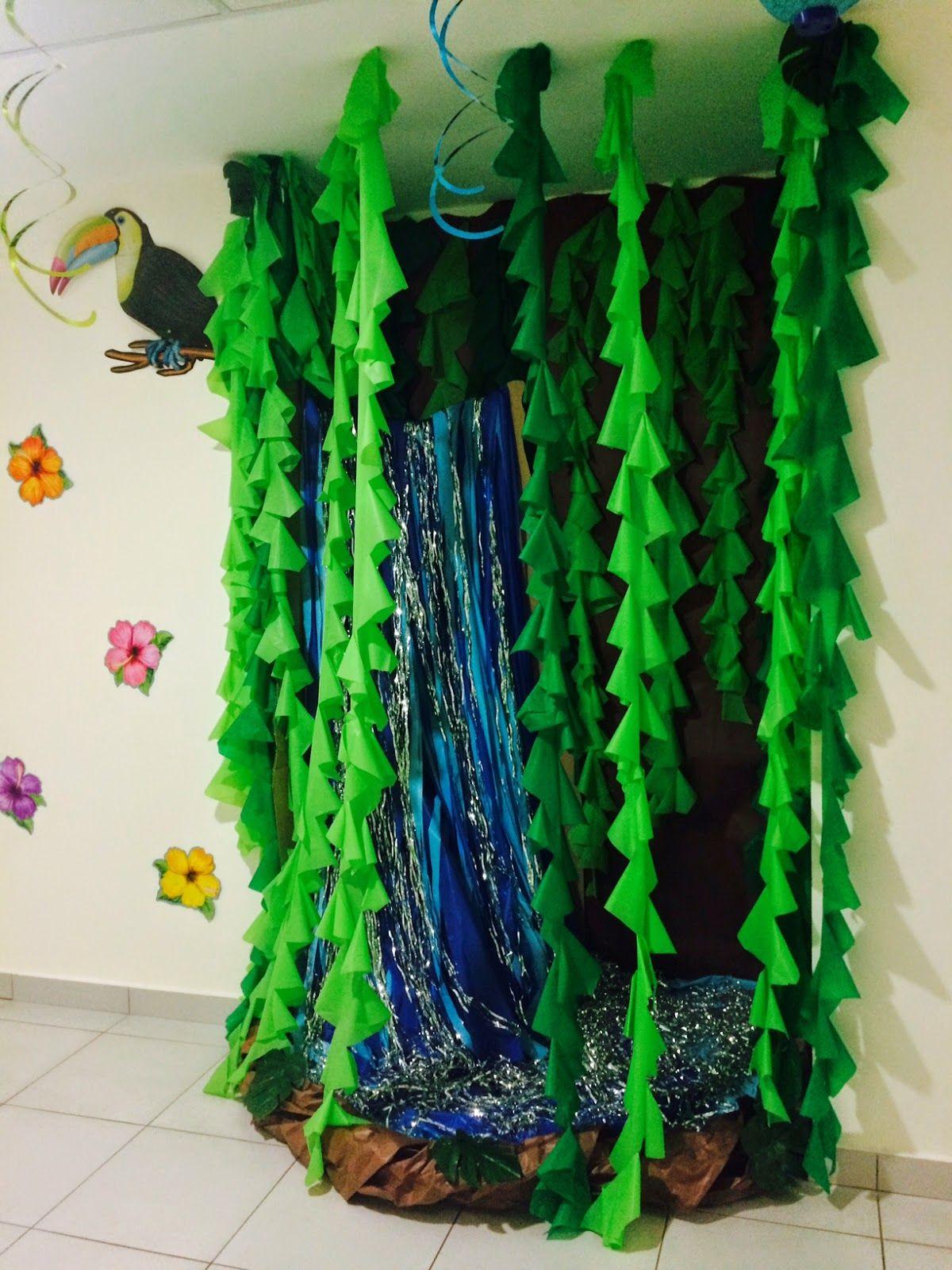 Waterfall Tiki Island Jungle Rainforest Classroom Decorating