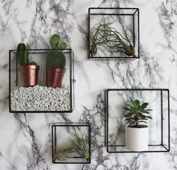 Pappus Square Box Wall Mount by MontibyMonti on Etsy                                                                                                                                                                                 More