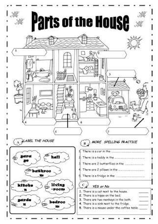 Resultado De Imagem Para Exercicios De Ingles Parts Of The House