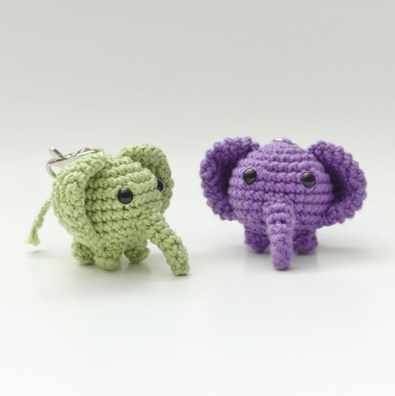 Amigurumi Elephant Keychain - Free Pattern | Krafty Kait - Crochet ...