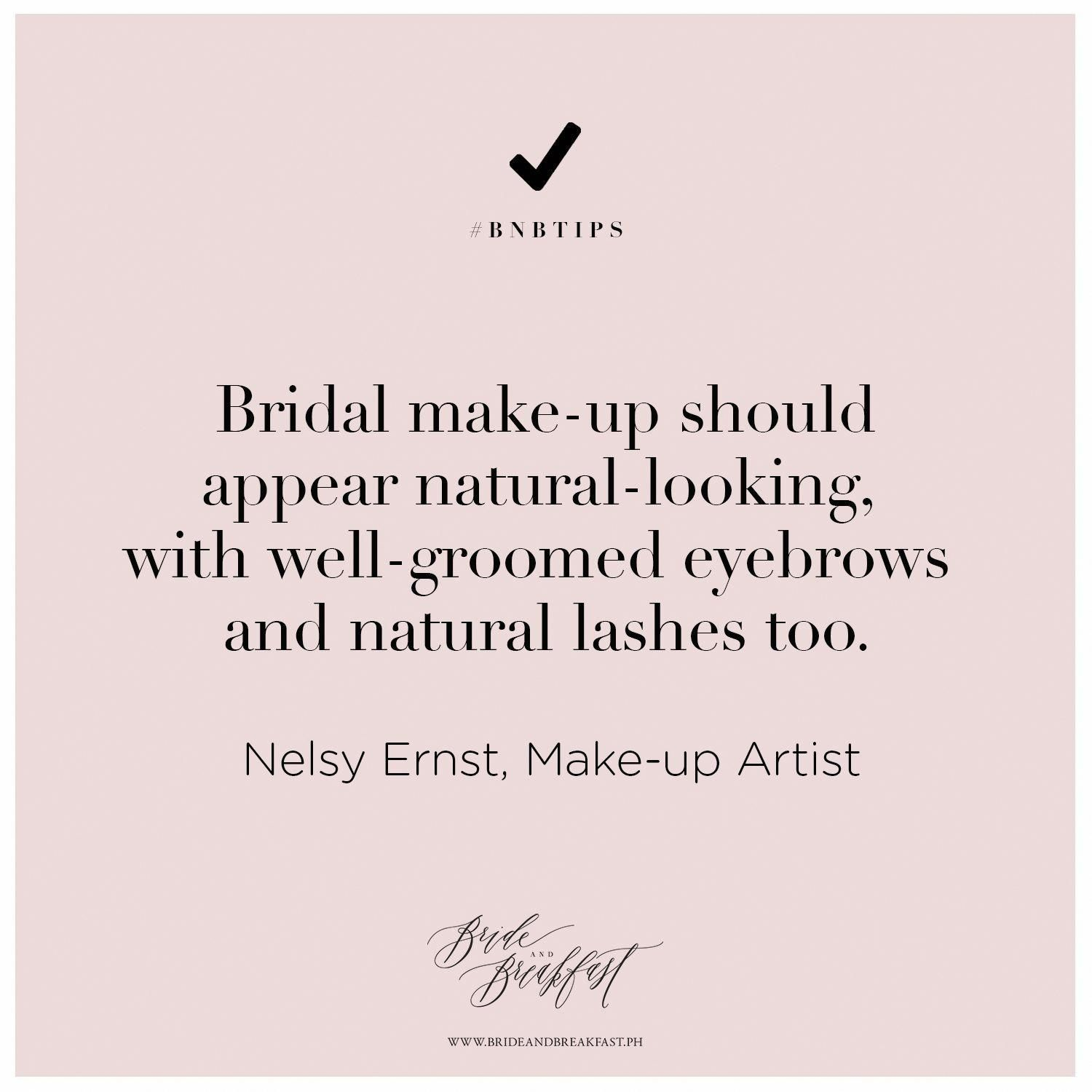 Bridal Make Up Should Appear Natural Looking With Well