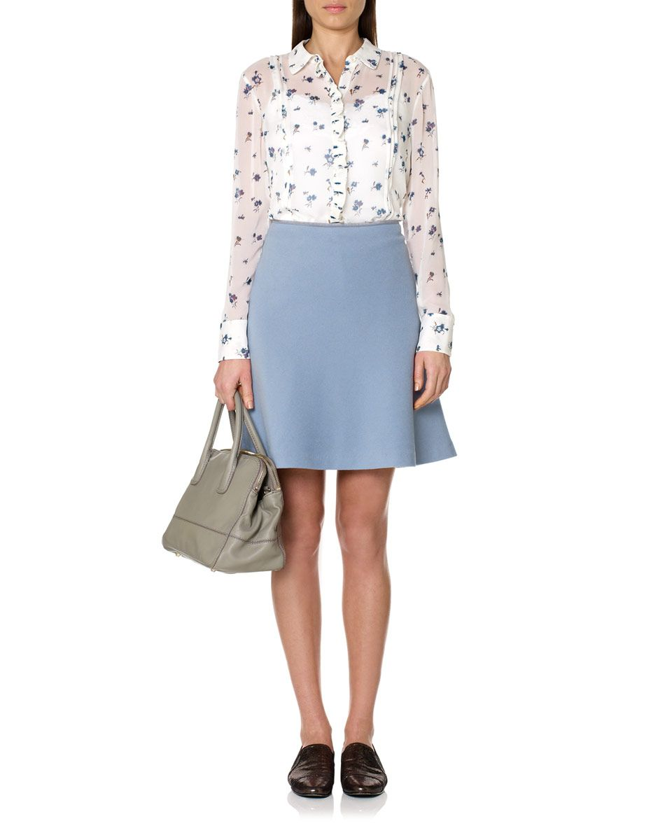 Skirts | BLUE Blue Melton Skirt | Jigsaw UK