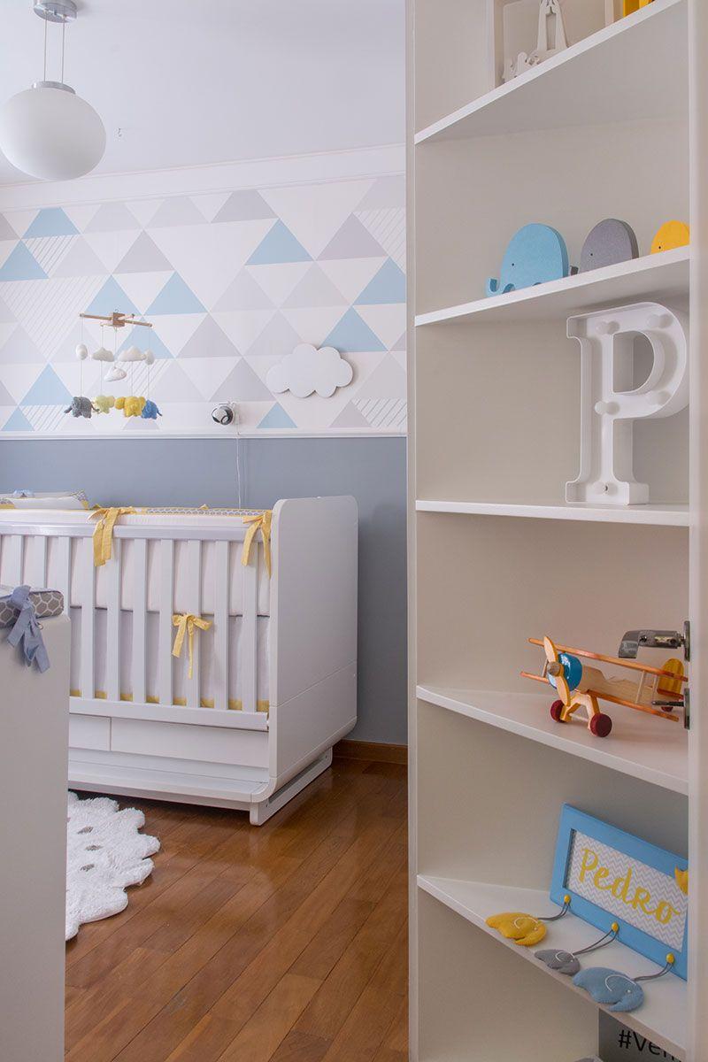 Quarto De Beb Amarelo E Azul Quartos De Beb Amarelos Ber Os  ~ Quarto Azul Marinho E Branco E Montar O Quarto Do Bebe