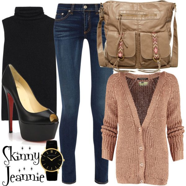 Untitled #1284 by skinny-jeannie on Polyvore featuring polyvore fashion style The Row Scotch & Soda rag & bone Christian Louboutin T-shirt & Jeans Larsson & Jennings
