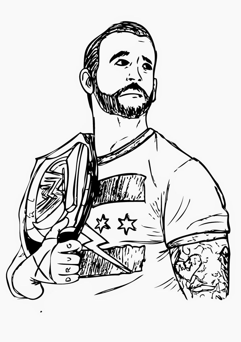 printable WWE Coloring Pages for adults | WWE wrestling | Pinterest