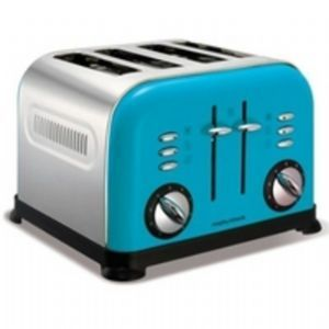 Morphy Richards 44799 4 Slice Cyan Blue Toaster ONLY £49