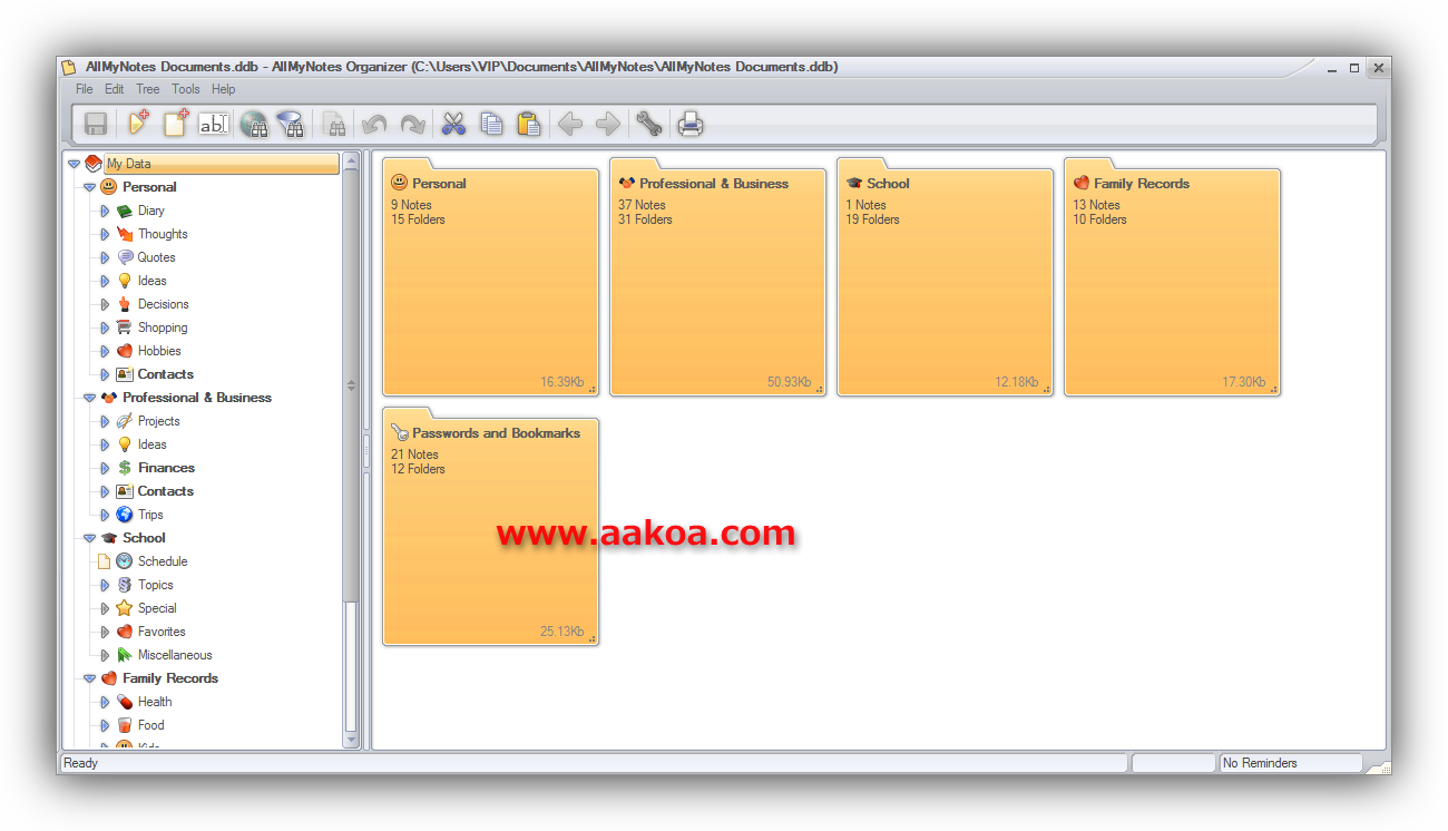 allmynotes organizer alternative