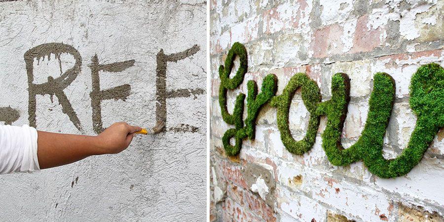 Moss Graffiti: The Coolest DIY Project Ever   Moss ...