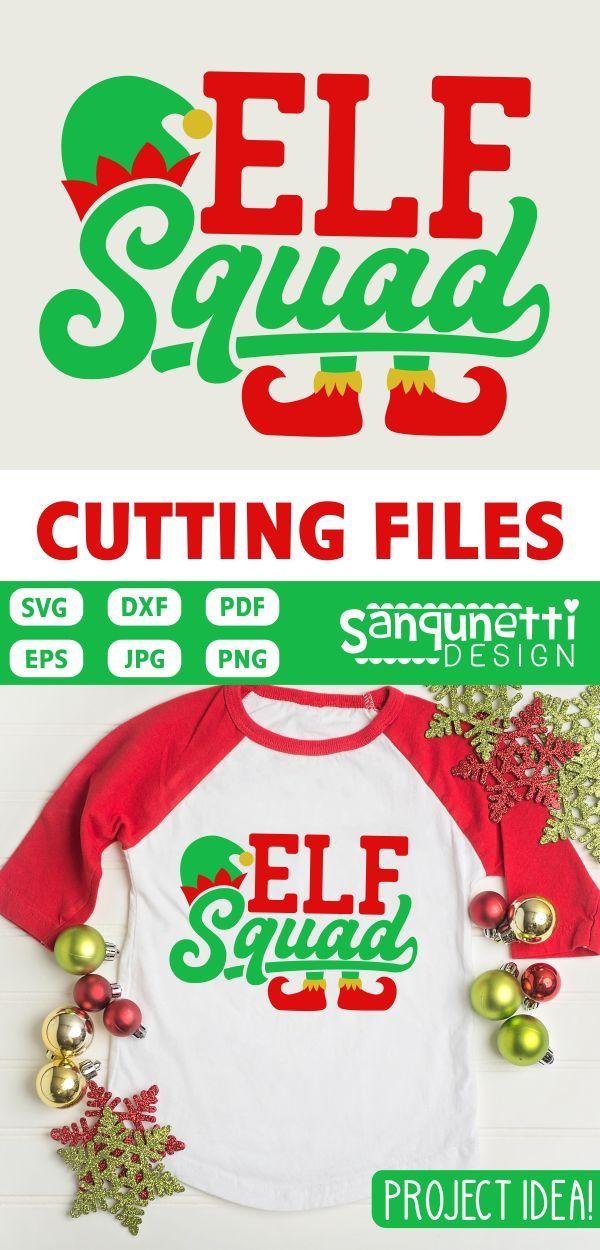 free commercial use christmas svg christmas svg elf squad cut file elf squad svg elf hat and feet svg