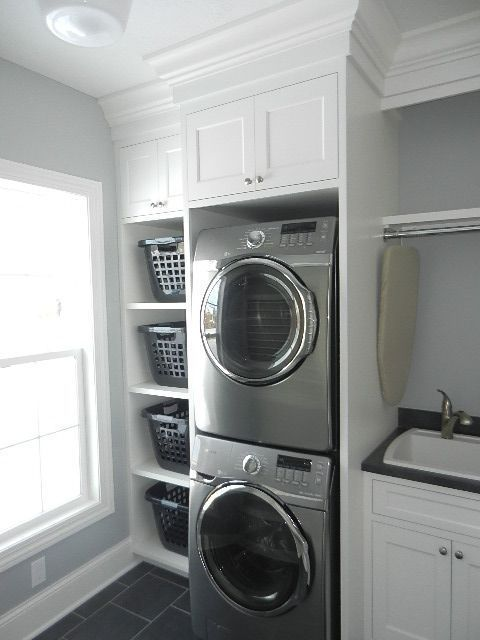 Photo of Excellent small laundry room ideas stackable washer dryer # laundry room # laundry …