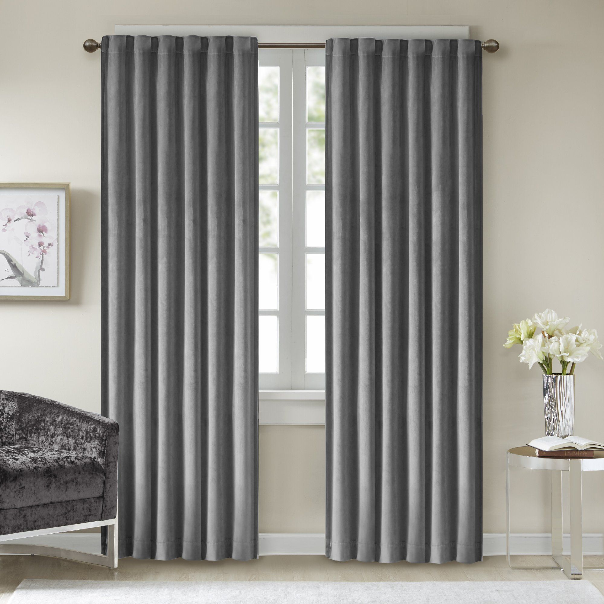panel grommet curtains mainstays helix curtain blackout ip walmart com efficient energy