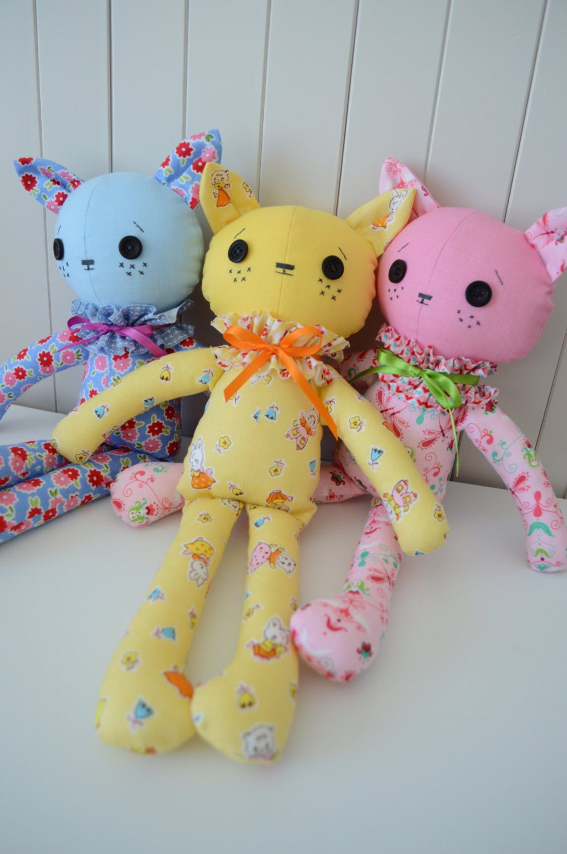 Kitten Doll Colour Kitties Soft Toy Plushie Pdf Etsy Doll Sewing Patterns Sewing Toys Sewing Projects