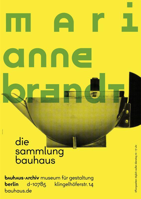 Poster designed by L2M3 for The Bauhaus-Archiv Museum für Gestaltung, © The Bauhaus.