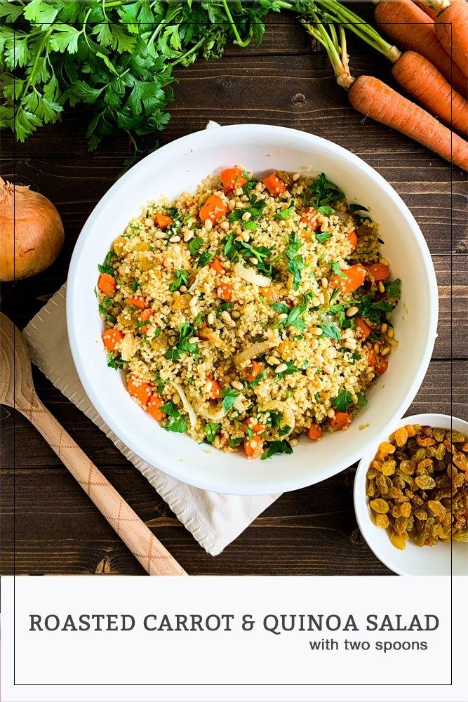 Roasted Carrot and Quinoa Salad | With Two Spoons Roasted Carrot and Quinoa Salad | With Two Spoons