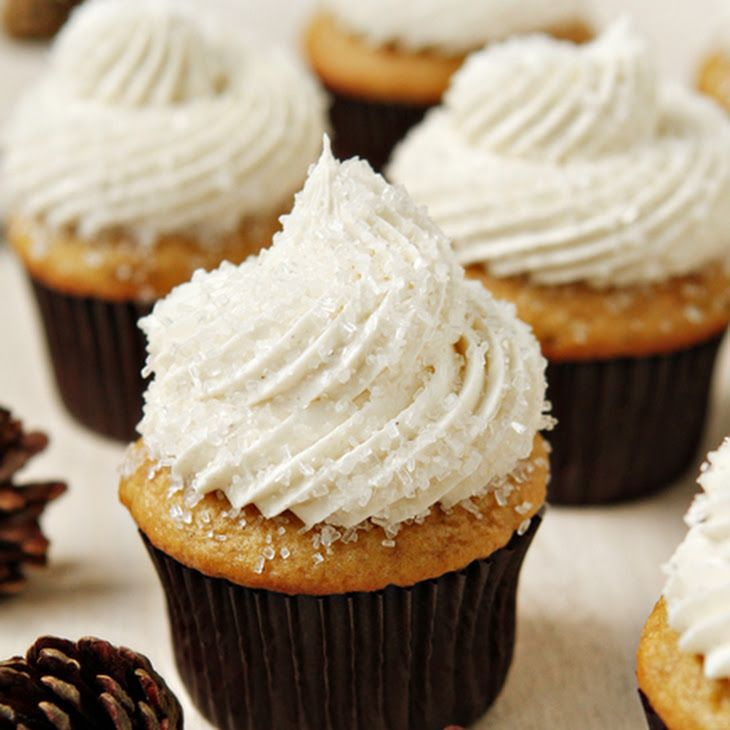 Sugar and Spice Cupcakes Recipe Afternoon Tea, Desserts with yellow cake mix, vanilla instant pudding, pumpkin pie spice, sour cream, vegetable oil, warm water, eggs, pure vanilla extract, unsalted butter, confectioners sugar, pumpkin pie spice, pure vanilla extract, heavy cream