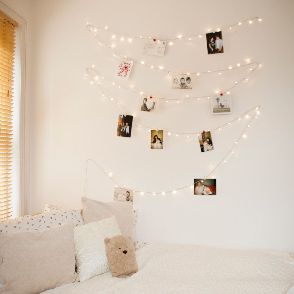 10 Creative Ways To Hang Photos Without Frames Fairy Lights