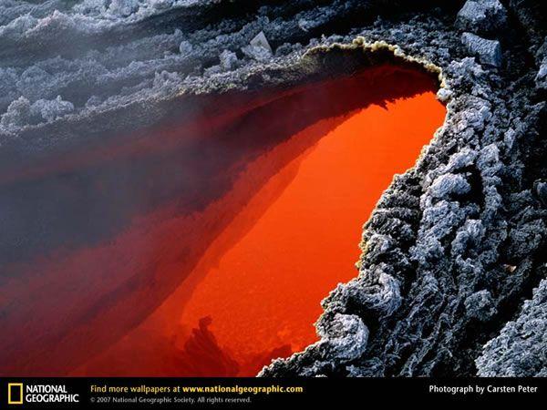 Liquid Lava On Mount Etna