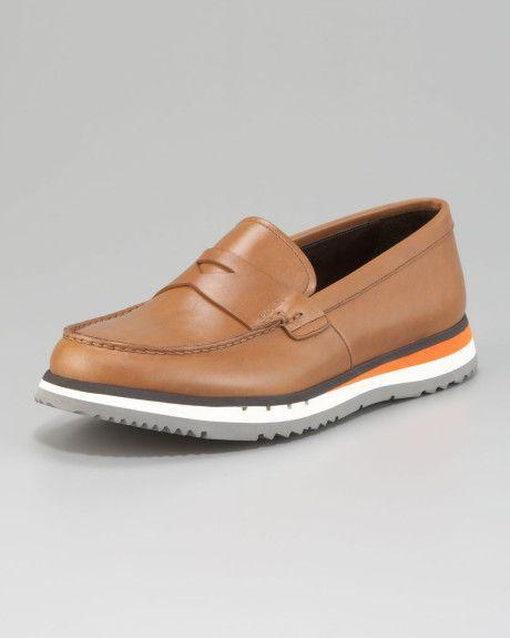 f625ed81710 Prada Brown Penny Loafer On Sneaker Bottom