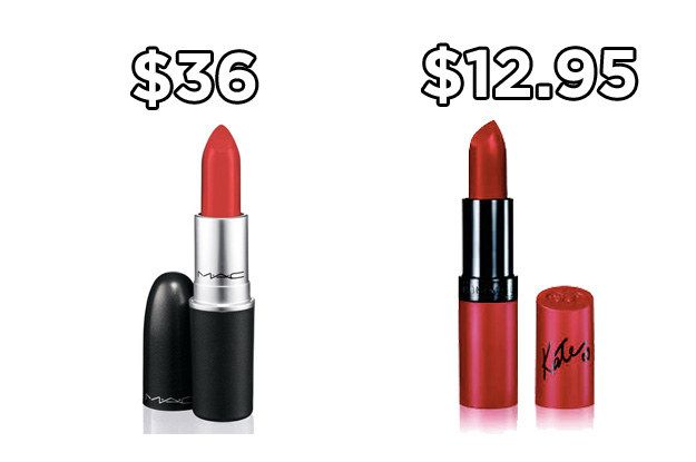 Try Rimmel Kate Moss Matte Lipstick in Kiss of Life instead of MAC's iconic lipstick in Ruby Woo and save around $23. | 20 Holy Grail Makeup Dupes That Are Actually Available In Australia