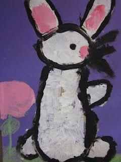 Kinder bunnies for Spring/Easter   Spring Art Lessons   Summer art