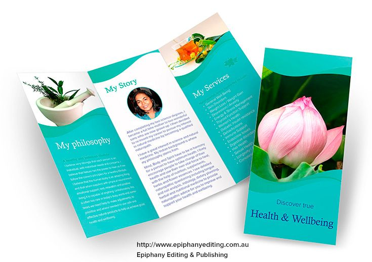 Design For In Holistic Health Brochure To Promote Health Product