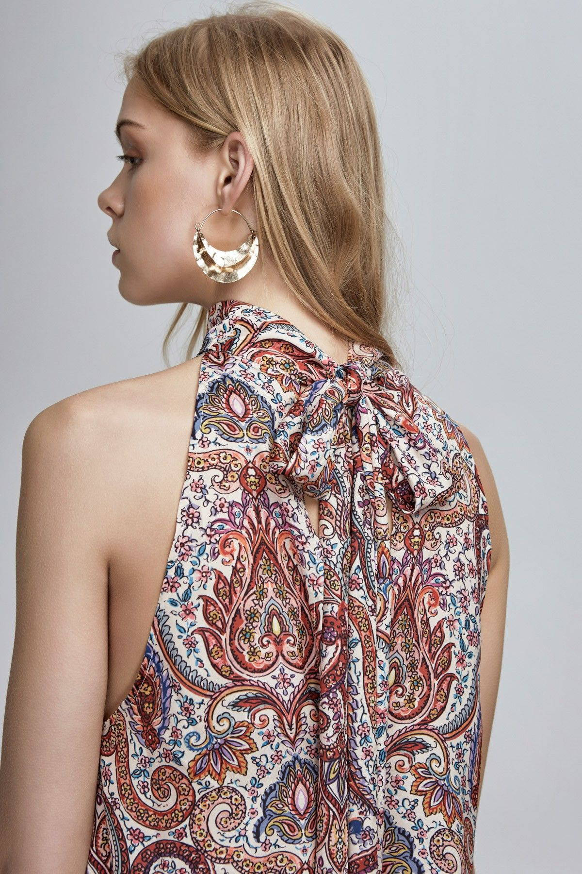 FINDERS KEEPERS CYRUS TOP henna print