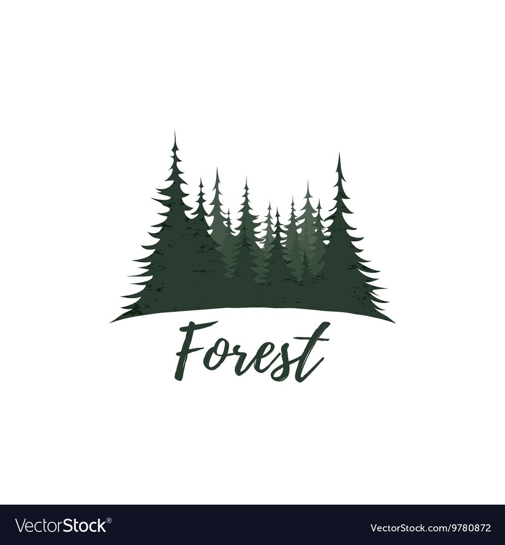 isolated on white background Vector Image Forest logo