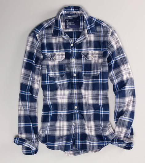 American Eagle Outfitters Men S Plaid Flannel Shirt Perfect Color
