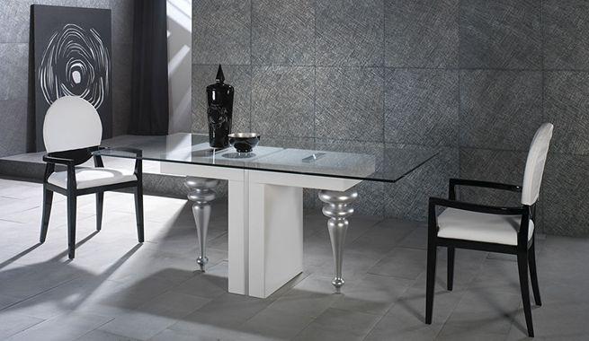 mesas de comedor moderna de vidrio - Google Search Mesas de