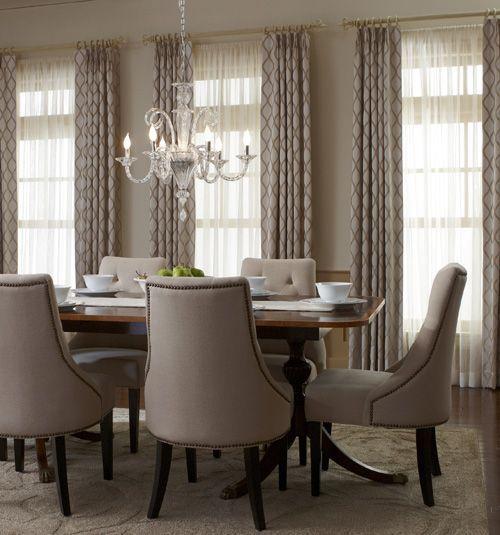 Crown Pleat Drapery Diningroom Dining Room Window Treatments Dining Room Drapes Dining Room Curtains